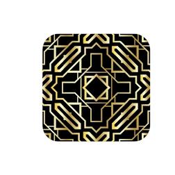 Sottobicchieri Art Deco in pelle rigenerata cm 10x10