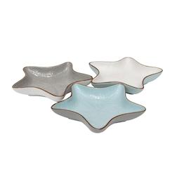 Coppetta stella marina Mediterraneo in ceramica colorata cm 23x23x4