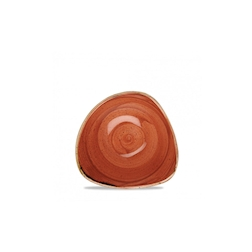 Bowl triangolare Stonecast Churchill in ceramica vetrificata arancio cm 15,3