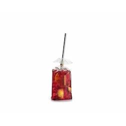 Mini sacchetti per cocktail 100% Chef in polipropilene trasparente cm 19x6x4