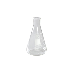 Ampolla conica graduata in vetro lt 1