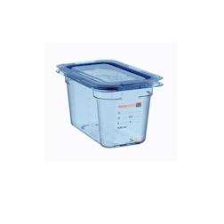 Contenitore 1/4 in plastica azzurra con coperchio altezza cm 15