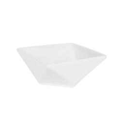 Coppetta rombo in porcellana bianca cm 9x9x4