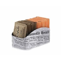 Porta bustine vintage Newspaper in latta bianca cm 11,5x6,2