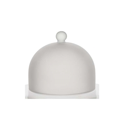 Cupola tonda Snow 100% Chef in vetro satinato cm 14