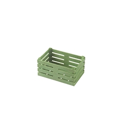 Cassetta in fibra di legno color verde cm 11x7x5