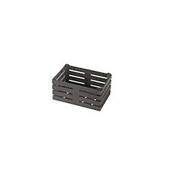 Cassetta in fibra di legno color nero cm 11x7x5