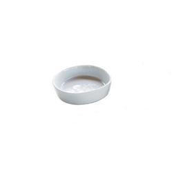 Coppetta tonda Pebble in porcellana bianca cm 7,5