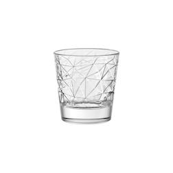 Bicchiere Dolomiti acqua Vidivi in vetro lavorato cl 37
