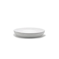 Pirofila rotonda Cordonata Impilabile in porcellana bianca cm 28x6,5