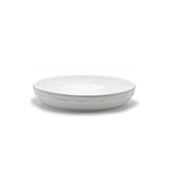 Pirofila rotonda Cordonata Impilabile in porcellana bianca cm 32x6,5