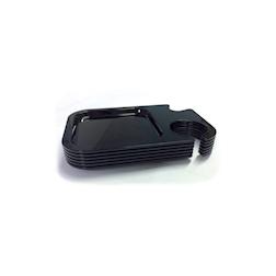 Vassoio Prestige In Pè in policarbonato nero cm 25x17