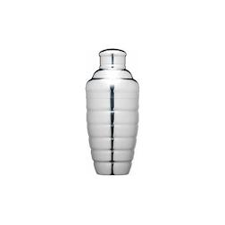 Cobbler shaker a cerchi concentrici in acciaio inox cl 50