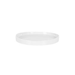 Vassoio tondo in porcellana bianca cm 20