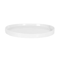 Vassoio tondo in porcellana bianca cm 30