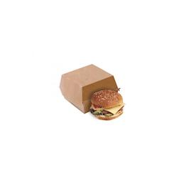 Contenitore per hamburger in cartone marrone cm 12x12x5