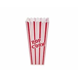 Contenitore Pop Corn America in plastica bianco e rosso lt 1