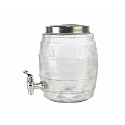 Vaso ermetico Punch Barrel con rubinetto in vetro lt 8