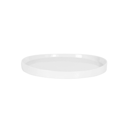 Vassoio tondo in porcellana bianca cm 25