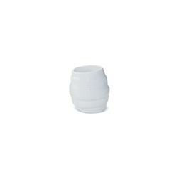Coppetta spirale Miniature in porcellana bianca cm 6x6,5