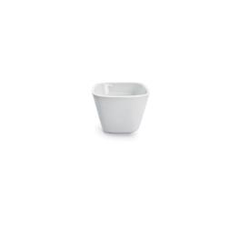 Coppetta quadra Miniature in porcellana bianca cm 5x5x3