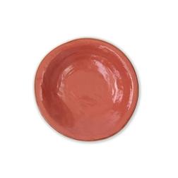 Piatto fondo Mediterraneo in ceramica arancio cm 24