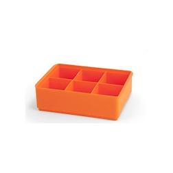 Stampo ghiaccio 6 cubetti in silicone arancione