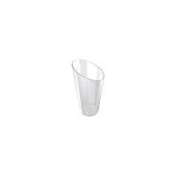 Bicchierino Bamboo monouso in plastica trasparente cl 7,5