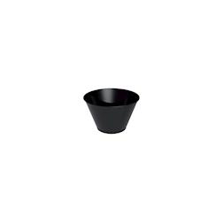 Coppetta Tulipano monouso in plastica nera cl 7