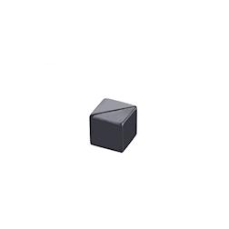 Porta numero a cubo acrilico nero cm 3x3