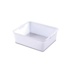Vaschetta rettangolare Araven in polietilene bianco lt 20