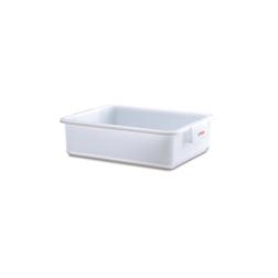 Vaschetta rettangolare Araven in polietilene bianco lt 25