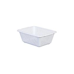 Cestello forato Araven in polipropilene bianco cm 11,2x29,8x22,8
