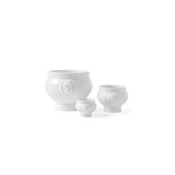 Zuppiera Testa di Leone Hendi in porcellana bianca lt 2