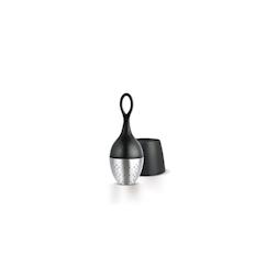 Filtro per tè galleggiante in acciaio inox e nylon nero