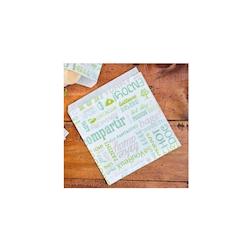 Sacchetti Parole monouso con decoro in carta cm 16x16,5
