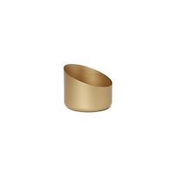 Portacandela Frans in metallo oro cm 9x8,5x7