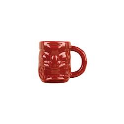 Tiki mug con manico in porcellana rossa cl 47