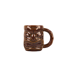 Tiki mug con manico in porcellana marrone cl 47