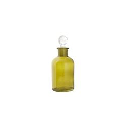 Bottiglia verde con tappo a sfera trasparente in vetro cl 26