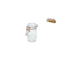 Barattolo jar con tappo ermetico in vetro cl 10
