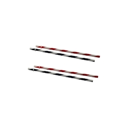 Cannucce a righe in plastica bianca-rossa e bianca-nera cm 22,7