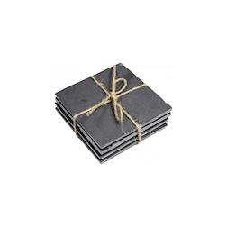 Sottobicchiere quadro in ardesia nera cm 10