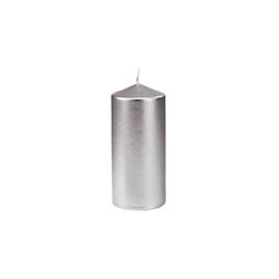 Candela Pillar Duni argento cm 15x7