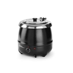 Scaldavivande tondo elettrico Hendi per zuppe in acciaio inox nero lt 8