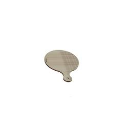 Tagliere tondo con manico in legno cm 12,5