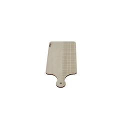 Tagliere rettangolare con manico in legno cm 17,5x10