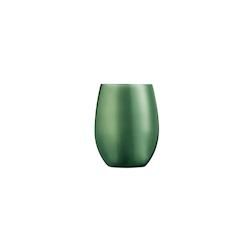 Bicchiere Primarific in vetro verde metallizzato cl 36
