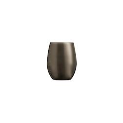 Bicchiere Primarific in vetro marrone metallizzato cl 36