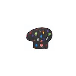 Cappello cuoco Bon Bon nero 100% cotone